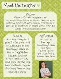 Green Lattice Meet The Teacher Template **Editable**