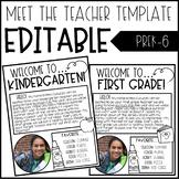 Meet The Teacher Template Editable - Meet The Teacher Letter Editable