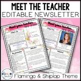Meet The Teacher Template Editable Farmhouse Shiplap & Fla