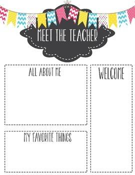 Meet the Teacher Template Letter