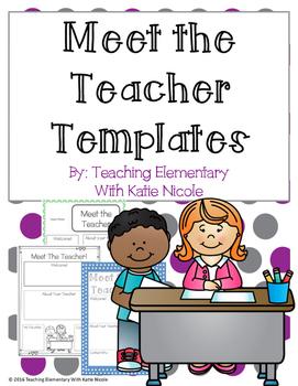 Meet The Teacher Templates: FREEBIE!