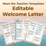 Meet The Teacher Templates - Editable Welcome Letter