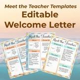 Meet The Teacher Templates - Editable Welcome Letter