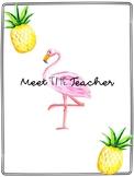 Meet The Teacher Tropical Theme