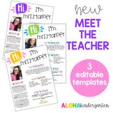 Meet The Teacher | Welcome Letter | Editable
