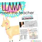 Meet The Teacher - Welcome Letter: LLAMA