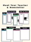 Meet The Teacher and Newsletter EDITABLE
