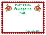 Meet These Awesome Kids!      A Classroom Photo Book With Apples
