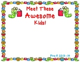 Meet These Awesome Kids!      A Classroom Photo Book With Bookworms