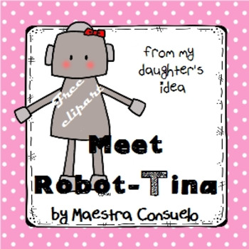 Meet Tina - robot clipart