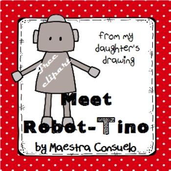 Meet Tino - robot clipart