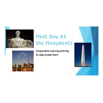 Meet You at the Monuments - Cooperative Learning Activity to Form Partners