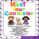 Meet Your Counselor-Back to School Coloring Book Activity