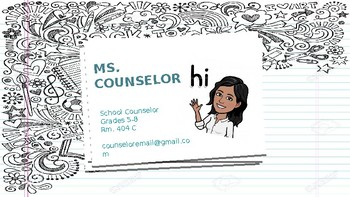 Meet Your Counselor Slides- EDITABLE!