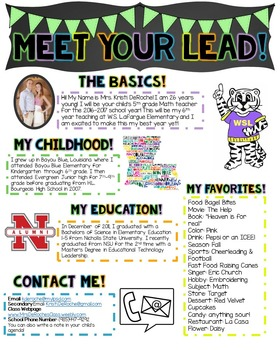 Meet Your Lead Newsletter- EDITABLE