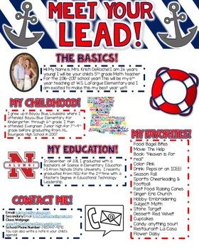 Meet Your Lead Newsletter- EDITABLE- Nautical