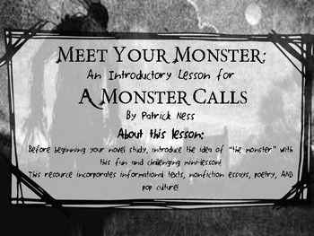 Meet Your Monster: An Introductory Lesson for A Monster Ca