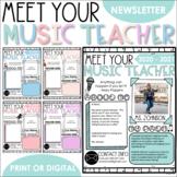 Meet Your Music Teacher - Meet the Teacher Editable Template