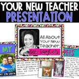 Meet Your New Teacher Presentation - Open House and Back t