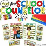 MEET YOUR SCHOOL COUNSELOR Bag Sorting Game, Posters, & Bi