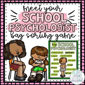 Meet Your SCHOOL PSYCHOLOGIST! Bag Sorting Game & Flipbook!