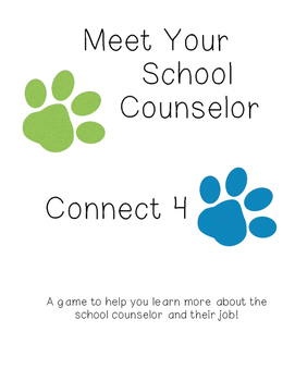 Meet Your School Counselor- Connect 4