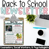 Meet, Introduction to the School Counselor or Social Worker EDITABLE Newsletter