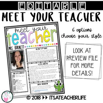 Meet Your Teacher | Back to School
