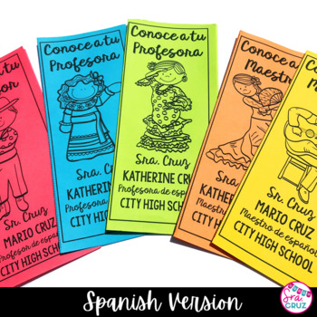 Meet the Teacher Brochure SPANISH (*EDITABLE*)
