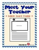 Meet Your Teacher Bulletin Board