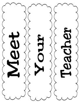 Meet Your Teacher Bulletin Board Set