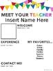 Meet The Teacher Editable Template Bundle