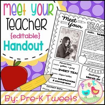 Meet Your Teacher Handout