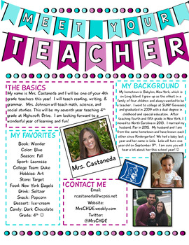 Meet Your Teacher Newsletter