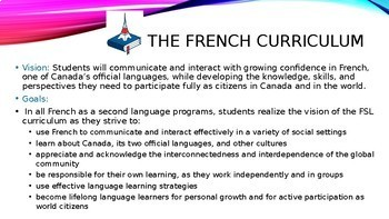 Meet Your Teacher Night French Class Slideshow (EDITABLE)