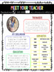 Meet Your Teacher- Open House Templates **Editable