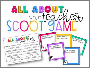 Meet Your Teacher Scoot Game