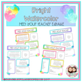 Meet the Teacher - Watercolor Bright Two Tone Bundle