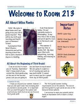 Meet Your Teacher- Welcome Letter