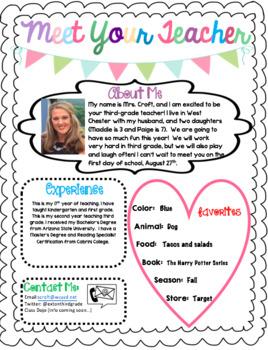 Meet Your Teacher (editable)