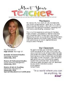 Meet Your Teacher template