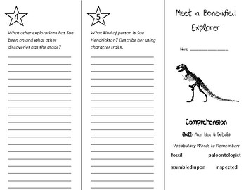 Meet a Bone-ified Explorer Trifold - Treasures 4th Grade Unit 6 Week 3