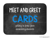 Meet and Greet Cards