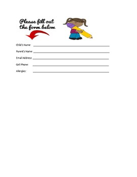 Meet and Greet Form