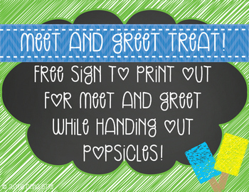 Meet and Greet Popsicle Treat!