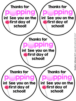 photograph relating to Thanks for Popping by Free Printable titled Because of For Popping In just Lollipop Worksheets Education