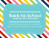 Back to School Night/Meet & Greet teacher survival kit