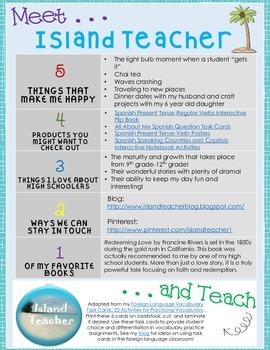 Meet and Teach: Island Teacher and a Task Card Freebie!