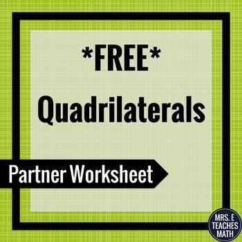 Quadrilaterals Partner Worksheet