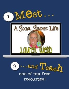 Meet and Teach with Lauren Webb - A Social Studies Life *FREEBIE*